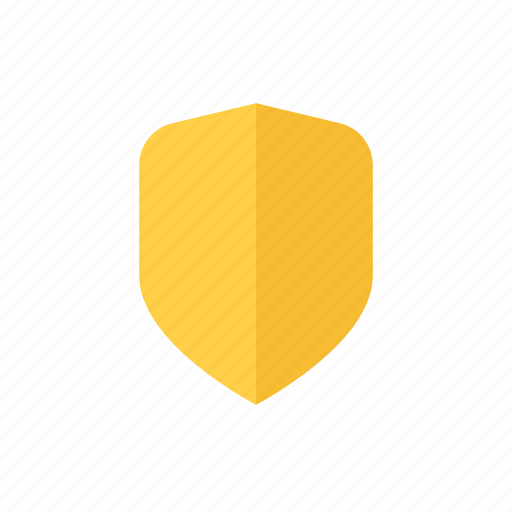 protect, protection, safety, secure, security, shield, yellow icon