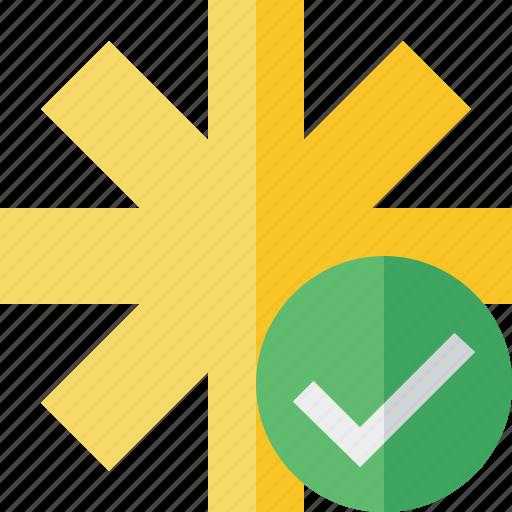 asterisk, ok, password, pharmacy, star, yellow icon