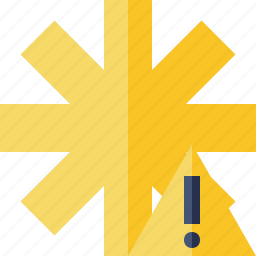 asterisk, password, pharmacy, star, warning, yellow icon