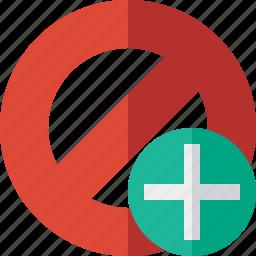 add, block, cancel, lock, stop icon