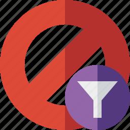 block, cancel, filter, lock, stop icon
