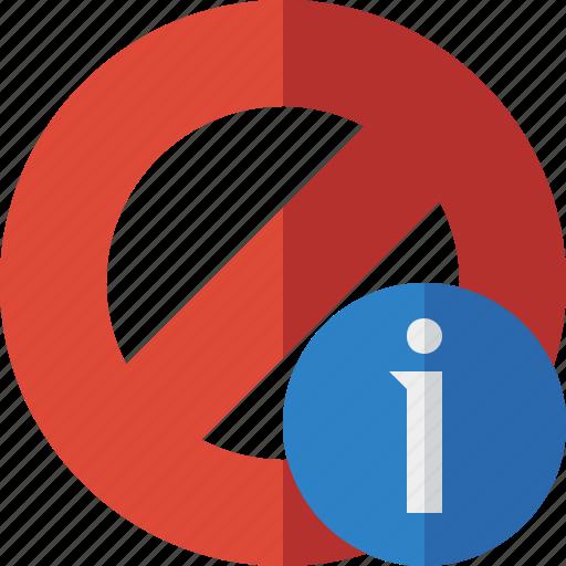 block, cancel, information, lock, stop icon