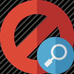 block, cancel, lock, search, stop icon