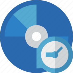 bluray, clock, compact, digital, disc, disk, dvd, media icon