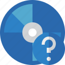 bluray, compact, digital, disc, disk, dvd, help, media icon