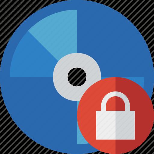 bluray, compact, digital, disc, disk, dvd, lock, media icon