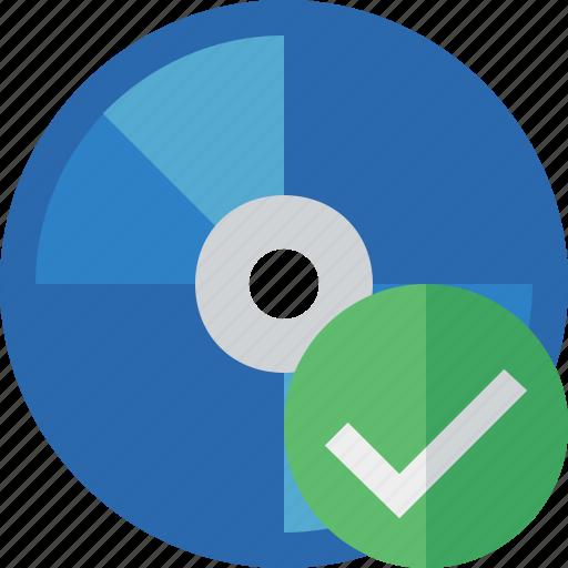 bluray, compact, digital, disc, disk, dvd, media, ok icon