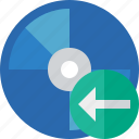 bluray, compact, digital, disc, disk, dvd, media, previous icon