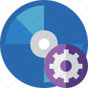 bluray, compact, digital, disc, disk, dvd, media, settings icon
