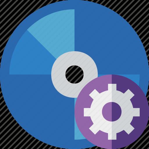 bluray, compact, digital, disc, disk, dvd, media, settings icon