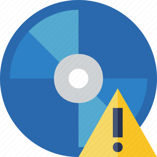 bluray, compact, digital, disc, disk, dvd, media, warning icon