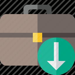 bag, briefcase, business, download, portfolio, suitcase, work icon