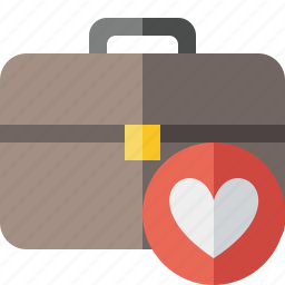 bag, briefcase, business, favorites, portfolio, suitcase, work icon