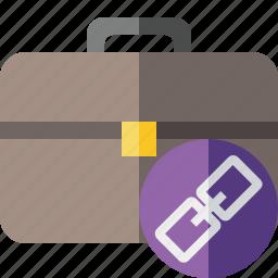 bag, briefcase, business, link, portfolio, suitcase, work icon