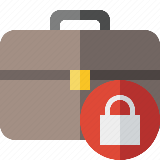 bag, briefcase, business, lock, portfolio, suitcase, work icon