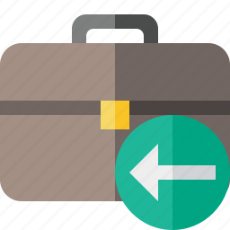 bag, briefcase, business, portfolio, previous, suitcase, work icon