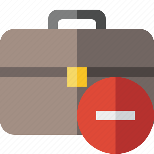bag, briefcase, business, portfolio, stop, suitcase, work icon