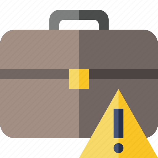 bag, briefcase, business, portfolio, suitcase, warning, work icon