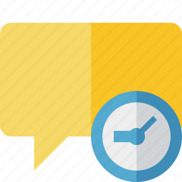 blank, bubble, chat, clock, comment, message, talk icon