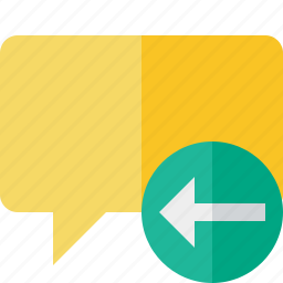 blank, bubble, chat, comment, message, previous, talk icon