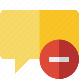 blank, bubble, chat, comment, message, stop, talk icon