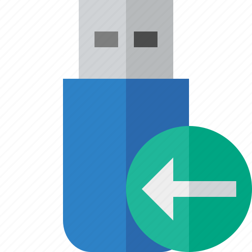 data, disk, drive, flash, previous, removable, storage, usb icon