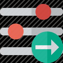 configuration, next, options, preferences, settings icon