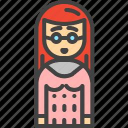 avatar, face, female, girl, social, women icon