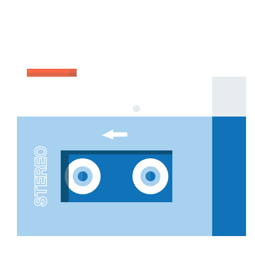 cassetteplayer, device, music, oldschool, play, player, sound icon