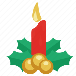 ball, balls, candle, celebration, christmas, christmas candle, decoration, gift, green leaf, holiday, ornament, present, red, red candle, santa, winter, xmas, year, yellow balls icon