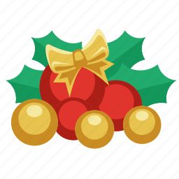 ball, balls, bow tie, celebration, christmas, christmas balls, colored, decoration, gift, green leaf, holiday, ornament, present, red balls, santa, tie, winter, xmas, year, yellow balls icon