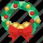 balls, bow tie, celebration, christmas, christmas garland, decoration, garland, holiday, ornament, present, santa, tie, winner, winter, xmas, xmas garland icon