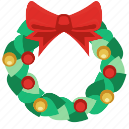 bow tie, celebration, christmas, christmas balls, christmas decoration, christmas garland, christmas ornaments, decoration, garland, green leaf, holiday, ornament, party, tie, top, winter, xmas, xmas gardland, year icon