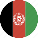 afghanistan, circle icon