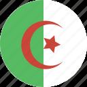 algeria, circle icon