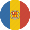 andorra, circle icon
