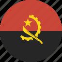 angola, circle icon