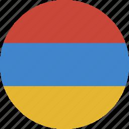 armenia, circle icon