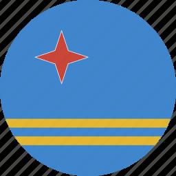 aruba, circle icon