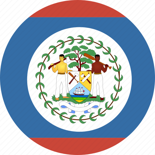 belize, circle icon