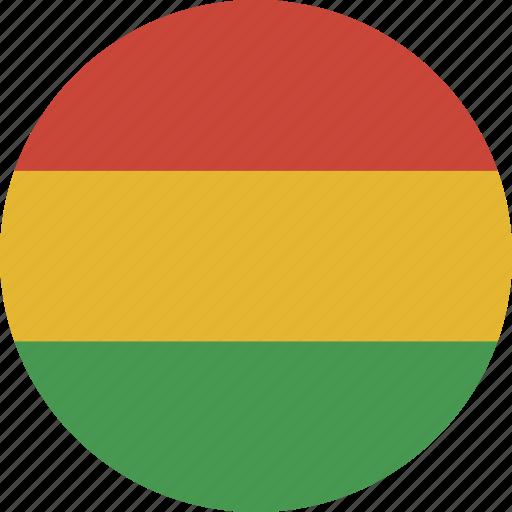 bolivia, circle icon