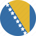 and, bosnia, circle, herzegovina icon