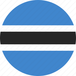 botswana, circle icon