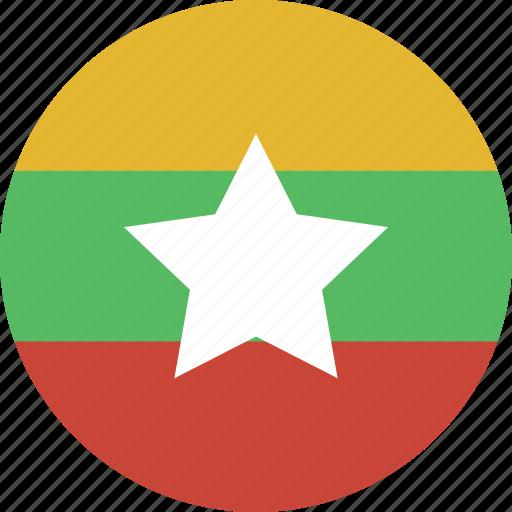 burma, circle, myanmar icon
