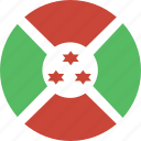 burundi, circle icon