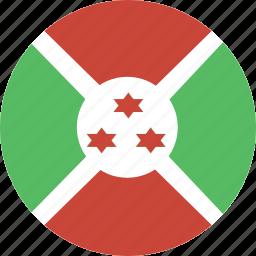 burundi, circle icon