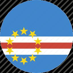 cape, circle, verde icon