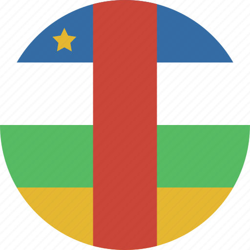 african, central, circle icon