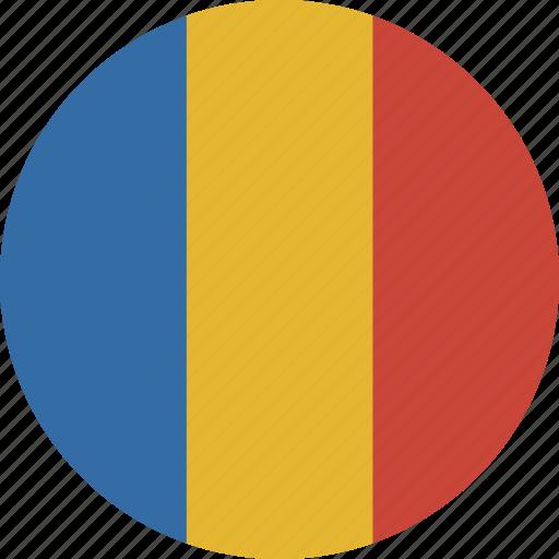 chad, circle icon