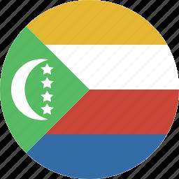 circle, comoros icon